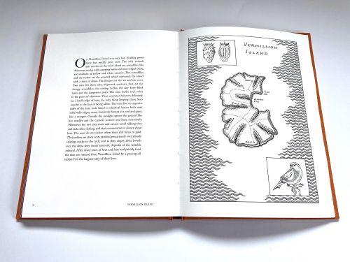 "Vermillion Island map in ""Somewhere Else"" by Lucinda Birch"